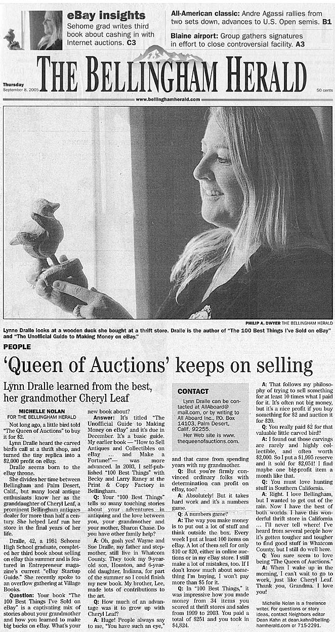The Bellingham Herald - The Queen of Auctions Keeps on Selling