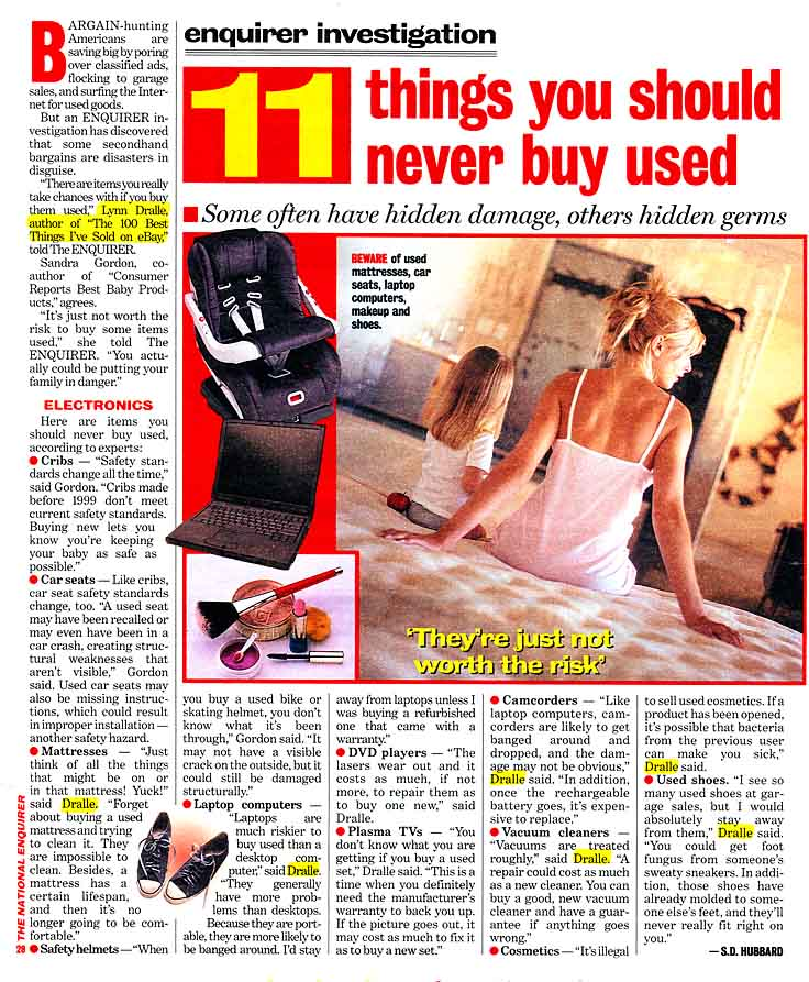 National Enquirer - 11 Things You Should Never Buy Used
